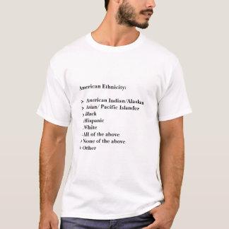 Camiseta Afiliação étnica americana