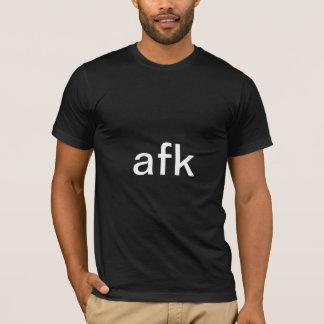 Camiseta afk - longe do teclado no texto branco