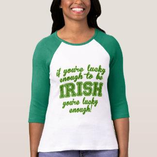 Camiseta Afortunado bastante para ser irlandês