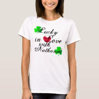 Camiseta Afortunado no amor
