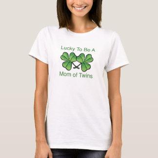 Camiseta Afortunado para ser mamã gêmea