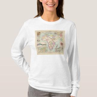 Camiseta Afrika - mapa do atlas de África