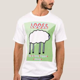 Camiseta Afrouxe como um carneiro equipado com pernas longo