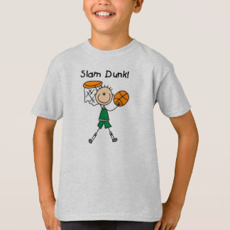 Camiseta Afundanço do basquetebol dos meninos