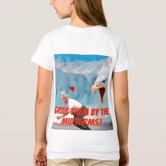 Camiseta Agarre-os pelo T das meninas de Eagle dos prazos