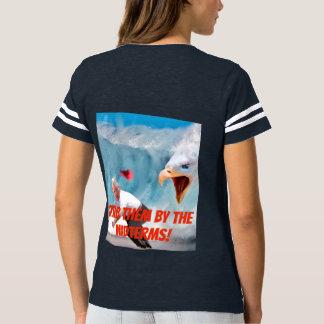 Camiseta Agarre-os pelo T das senhoras de Eagle dos prazos