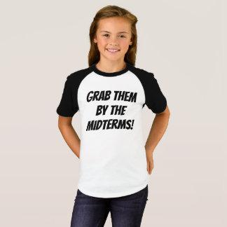 Camiseta Agarre-os pelos prazos médios adolescentes/T das