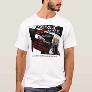 Camiseta Agência CONTRA a série cómica 3 do t-shirt híbrido