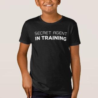 Camiseta Agente secreto no t-shirt do treinamento