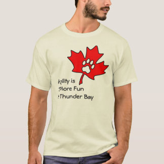 Camiseta Agilidade de Thunder Bay - vazio para trás