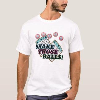 Camiseta Agite o texto colorido daquelas bolas
