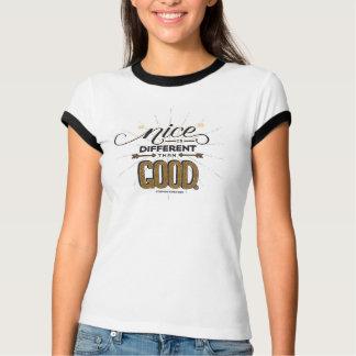 Camiseta Agradável é diferente do que a boa guarnição