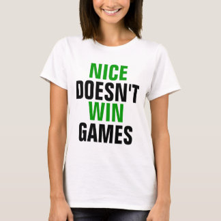 Camiseta Agradável não ganha jogos