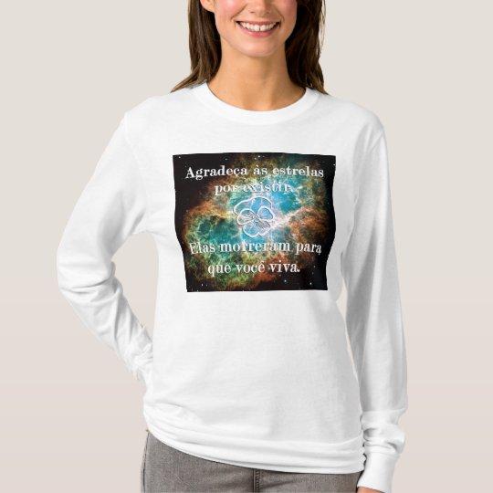 Camiseta Agradeça às estrelas