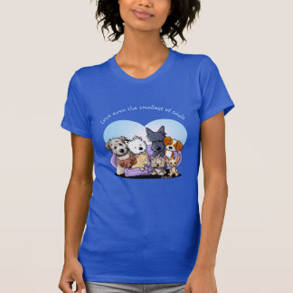 Camiseta Agrupamento da raça do cão de KiniArt