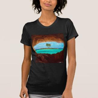 Camiseta Água cénico e palmeiras