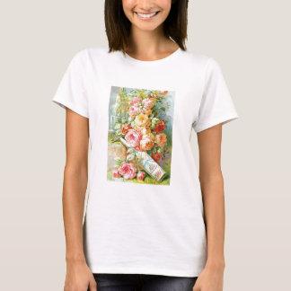 Camiseta Água de Colônia da água de Florida com rosas da