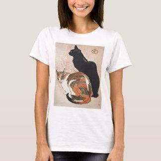 Camiseta Aguarela - 2 gatos - Théophile Alexandre Steinlen