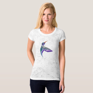 Camiseta Aguarela abstrata do colibri