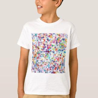 Camiseta Aguarela colorida das bolinhas do arco-íris
