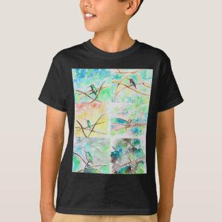 Camiseta Aguarela da coleção do colibri