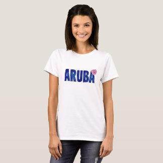 Camiseta Aguarela da flor de Aruba para férias