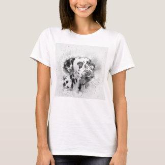 Camiseta Aguarela Dalmatian