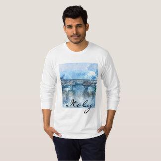 Camiseta Aguarela de Florença Italia