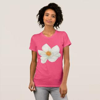 Camiseta Aguarela de florescência da magnólia