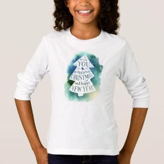 Camiseta Aguarela do Natal | - citações dos cumprimentos