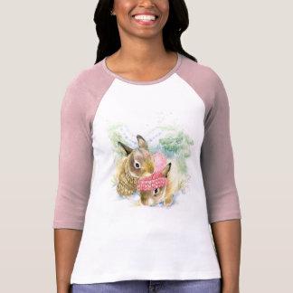 Camiseta Aguarela do Natal | - coelhos da floresta do
