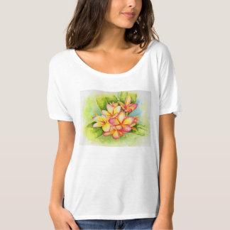 Camiseta Aguarela do Plumeria por Malorie Arisumi Maui