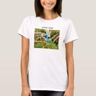 Camiseta Aguarela do retrato do Tanager