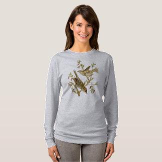 Camiseta Aguarela do t-shirt dos pardais