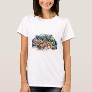 Camiseta Águas corais com peixes tropicais