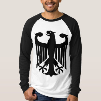 Camiseta Águia alemão com da bandeira parte traseira sobre