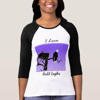 Camiseta Águia americana no por do sol - arte original dos