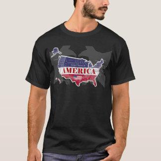 Camiseta Águia americana nomeada T-Shirt-2 do Estado Azul