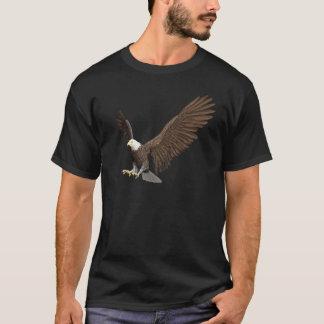 Camiseta Águia americana que entra para uma aterragem