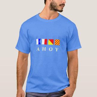 Camiseta Ahoy bandeiras náuticas