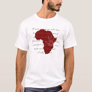 Camiseta AIDS de África/HIV/camisa consciência da pobreza