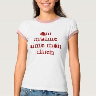 Camiseta Aime segunda-feira chien do m'aime de Qui