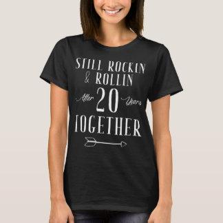 Camiseta Ainda rocha e rollin após 20 anos junto