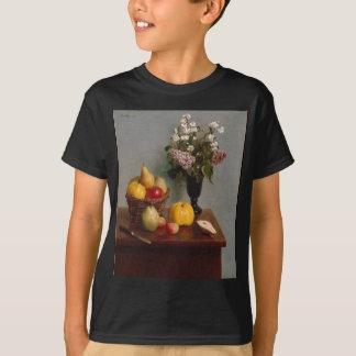 Camiseta Ainda vida com flores e fruta