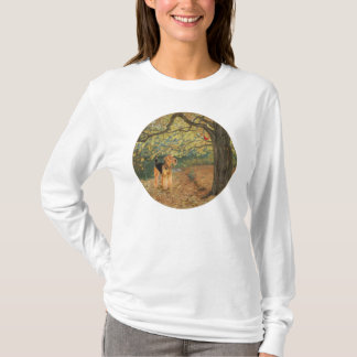 Camiseta Airedale Terrier que Birdwatching