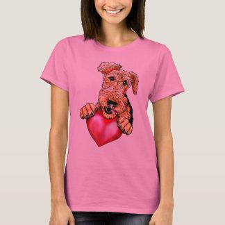 Camiseta Airedale Terrier que guardara o coração