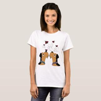 Camiseta Airedales e joaninha