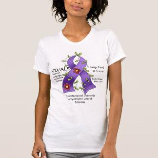 Camiseta Ajuda de FTD/ALS para encontrar um t-shirt da cura