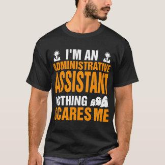 Camiseta Ajudante administrativo nada sustos o Dia das