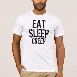 Camiseta Ajustado magro do Comer-Sono-Rastejamento